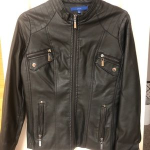 Trendy faux leather jacket
